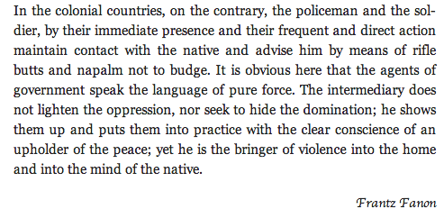 Fanon on Colonial Violence